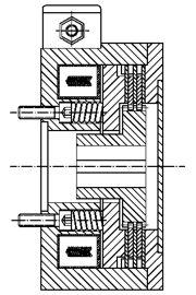 Многодисковый пружинный тормоз LMOBA25